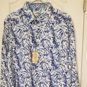 NEW Robert Graham Shirt L/S Size XL
